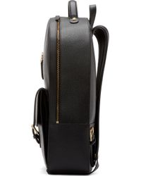 Thom Browne | Black Grained Leather Backpack for Men | Lyst