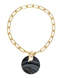 Michael Kors | Metallic Agate City Disc Statement Necklace | Lyst