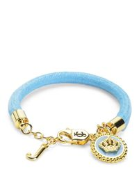 Juicy Couture | Blue Status Coin Bracelet | Lyst