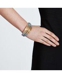 John Lewis - Metallic Multi Cord Tube Detail Bracelet - Lyst