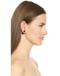 Amber Sceats - Front To Back Earrings - Black Onyx - Lyst