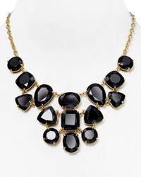 kate spade new york | Black Vegas Jewels Statement Necklace, 17"