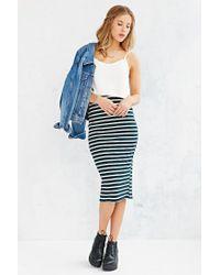 Glamorous | Green Fitted Midi Skirt | Lyst
