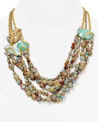 "Alexis Bittar - Metallic Elements Imperial Multi Strand Statement Necklace 20.5"" - Lyst"