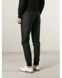 Lanvin - Black Elasticated Waist Trousers for Men - Lyst