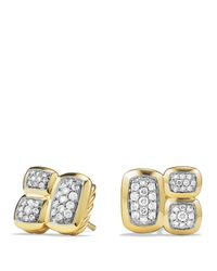 David Yurman | Metallic Confetti Stud Earrings With Diamonds In Gold | Lyst