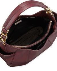 Ferragamo - Purple Elle Gancini-Chain Leather Hobo Bag - Lyst