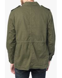7 For All Mankind Green Military Jacket In Fatigue for men