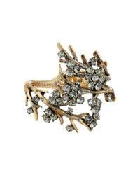 Oscar de la Renta - Metallic Crystal Branch Bracelet - Lyst