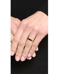Marc By Marc Jacobs - Black Enamel Plaque Ring Cream - Lyst