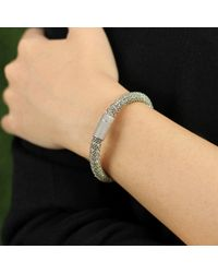 Carolina Bucci - Gray Leaf Sparkle Twister Band Bracelet - Lyst
