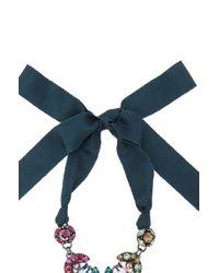 Lanvin - Blue Drop Pendant Necklace - Lyst