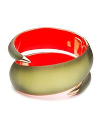Alexis Bittar | Green Phoenix Deco Coiled Hinged Bracelet | Lyst