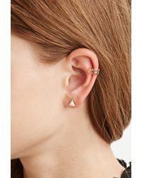 Forever 21 | Metallic Ear Cuff And Geo-shaped Stud Set | Lyst