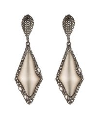 Alexis Bittar | Gray Cubist Dangling Marquis Post Earring | Lyst