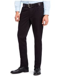 Kenneth Cole Reaction | Black Slim Sateen Pants for Men | Lyst