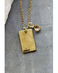 Urban Outfitters - Metallic Stamped Zodiac Necklace - Lyst