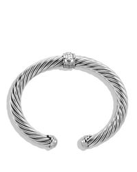 David Yurman | Cable Classics Bracelet With Diamonds & White Gold | Lyst