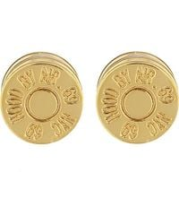 Hood By Air | Metallic Magnetic Disc Earrings | Lyst