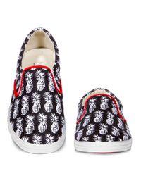 Bucketfeet | Black Pineapple Canvas Slip-on Sneakers | Lyst