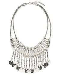 Vince Camuto | Metallic Silver-Tone Coin Bib Statement Necklace | Lyst