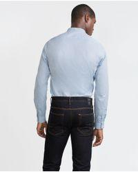 Zara | Blue Mao Collar Shirt for Men | Lyst