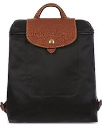 Longchamp | Black Le Pliage Backpack | Lyst