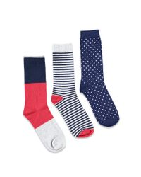 Forever 21 - Red Patterned Crew Sock Set for Men - Lyst