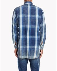 DSquared² | Blue Indigo Check Shirt for Men | Lyst
