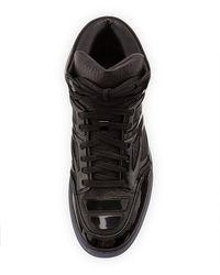Alejandro Ingelmo - Black Pebbled Calfskin High-top Sneaker for Men - Lyst