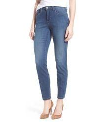 NYDJ - Blue 'clarissa' Stretch Skinny Ankle Jeans - Lyst