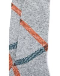 Anonymous Ism | Gray Path Cross Crew Socks for Men | Lyst
