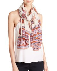 Tory Burch - Multicolor Dapper Paisley-Print Wool Scarf - Lyst