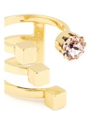 Joomi Lim | Pink 'shape Shifter' Crystal Open Band Cuboid Ring | Lyst