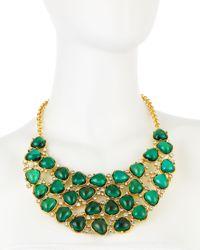 Kenneth Jay Lane | Emeraldgreen Crystal Bib Necklace | Lyst
