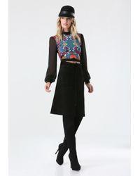 Bebe - Black Corduroy A-line Skirt - Lyst