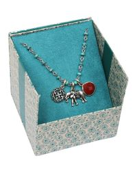 Lucky Brand - Metallic Semi-precious Turquoise Elephant Necklace - Lyst