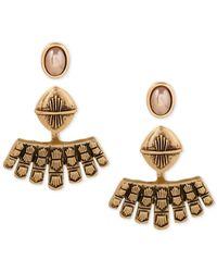 Lucky Brand - Metallic Gold-tone Earring Jacket Earrings - Lyst