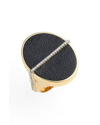 Rachel Zoe | Black 'alana' Leather Ring | Lyst