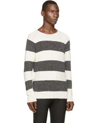 DIESEL | White And Grey K_wylde Sweater for Men | Lyst