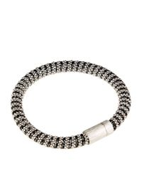 Carolina Bucci | Black Metallic Twister Bracelet Silver | Lyst