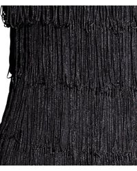 H&M - Black Dress With Fringes - Lyst
