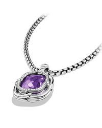 David Yurman | Purple Labyrinth Small Pendant With Diamonds | Lyst