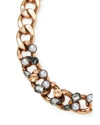 Forever 21 - Metallic Embellished Curb Chain Necklace - Lyst