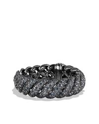David Yurman | Metallic Hampton Cable Bracelet With Diamonds | Lyst