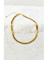 Urban Outfitters - Metallic Halsey Street Choker Necklace - Lyst