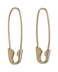 Loren Stewart - Metallic Yellow Gold Safety Pin Earrings Size Os - Lyst