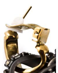 Lanvin - Metallic Loop Drop Clip-On Earrings - Lyst