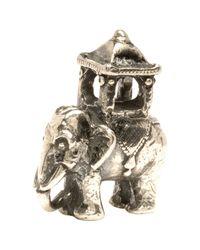 Trollbeads Metallic 'Indian Elephant' Silver Bead