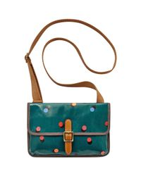 Fossil - Green Keyper Mini Flap Crossbody - Lyst